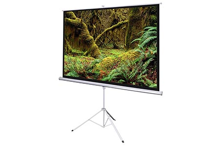 120 inch Tripod Projector Screen Hire Melbourne | Craig Williams Promotions