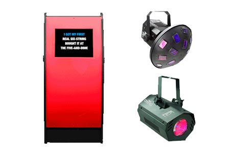 Karaoke Jukebox with 2 Extra Disco Lights Hire Package | Craig Williams Promotions