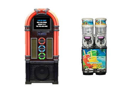 Wurlitzer-Style Karaoke Jukebox with Cocktail Machine Hire Package | Craig Williams Promotions
