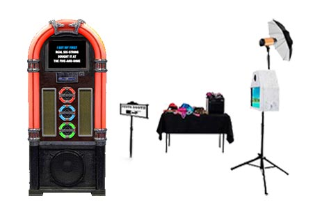 Wurlitzer-Style Karaoke Jukebox with Photo Booth Hire Package - Craig Williams Promotions